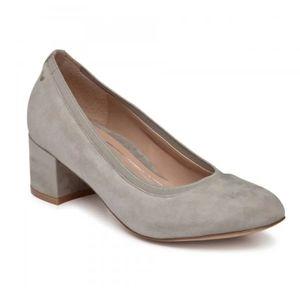 Vionic Natalie Slate Grey Suede Classic Pump Heels